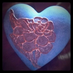 Heart shaped ceramic jewelry boxes